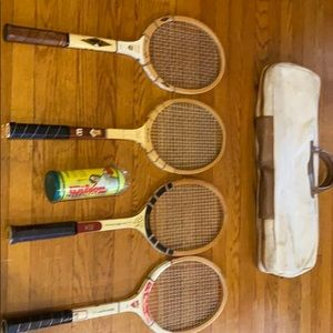 Wooden Tennis Rackets Slightly Used